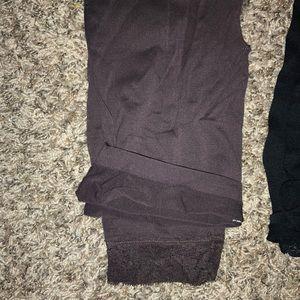 Max rave brown 3/4 lace leggings size l/m
